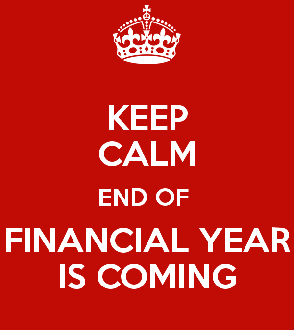 The end of the financial year is coming!