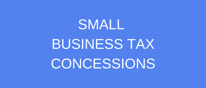 Small business tax concessions at a glance
