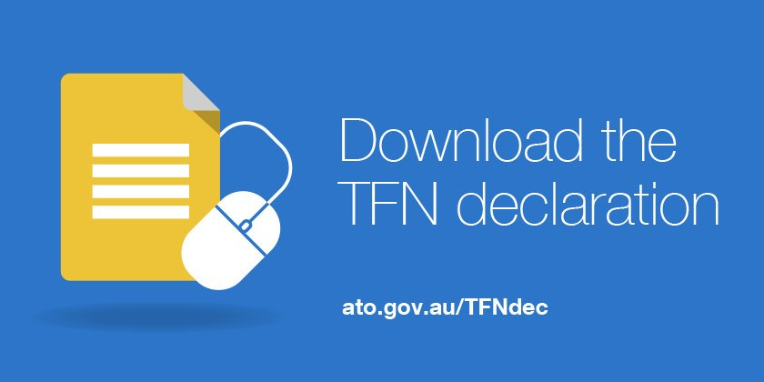 Hiring new employees? TFN declaration forms can be downloaded